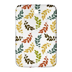 Colorful Leaves Seamless Wallpaper Pattern Background Samsung Galaxy Note 8 0 N5100 Hardshell Case  by Simbadda