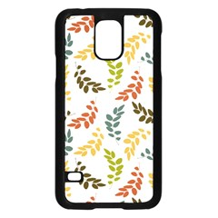 Colorful Leaves Seamless Wallpaper Pattern Background Samsung Galaxy S5 Case (black) by Simbadda