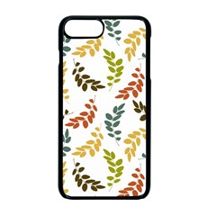 Colorful Leaves Seamless Wallpaper Pattern Background Apple Iphone 7 Plus Seamless Case (black) by Simbadda