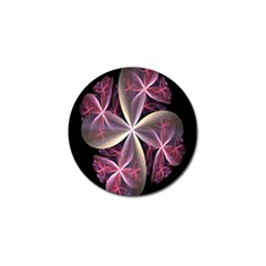 Pink And Cream Fractal Image Of Flower With Kisses Golf Ball Marker (4 Pack) by Simbadda