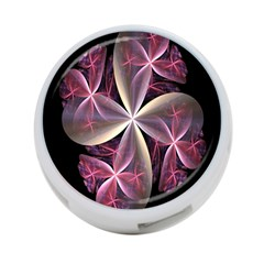 Pink And Cream Fractal Image Of Flower With Kisses 4 Port Usb Hub (one Side) by Simbadda