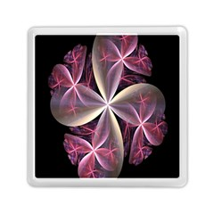 Pink And Cream Fractal Image Of Flower With Kisses Memory Card Reader (square)  by Simbadda