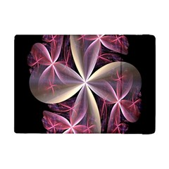 Pink And Cream Fractal Image Of Flower With Kisses Apple Ipad Mini Flip Case by Simbadda