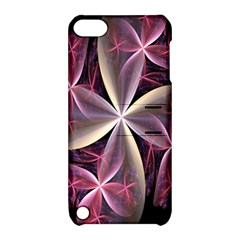 Pink And Cream Fractal Image Of Flower With Kisses Apple Ipod Touch 5 Hardshell Case With Stand by Simbadda