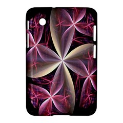 Pink And Cream Fractal Image Of Flower With Kisses Samsung Galaxy Tab 2 (7 ) P3100 Hardshell Case  by Simbadda