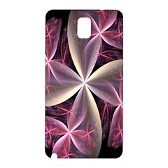 Pink And Cream Fractal Image Of Flower With Kisses Samsung Galaxy Note 3 N9005 Hardshell Back Case by Simbadda