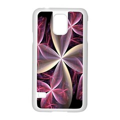 Pink And Cream Fractal Image Of Flower With Kisses Samsung Galaxy S5 Case (white) by Simbadda