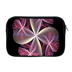 Pink And Cream Fractal Image Of Flower With Kisses Apple Macbook Pro 17  Zipper Case by Simbadda