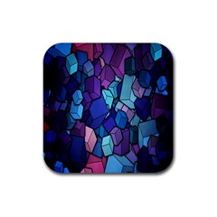 Cubes Vector Art Background Rubber Coaster (square)  by Simbadda