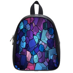 Cubes Vector Art Background School Bags (small)  by Simbadda