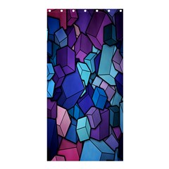 Cubes Vector Art Background Shower Curtain 36  X 72  (stall)  by Simbadda