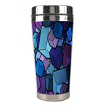 Cubes Vector Art Background Stainless Steel Travel Tumblers Right
