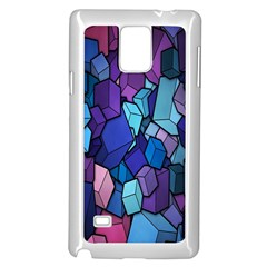 Cubes Vector Art Background Samsung Galaxy Note 4 Case (white) by Simbadda