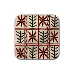 Abstract A Colorful Modern Illustration Pattern Rubber Square Coaster (4 Pack)  by Simbadda