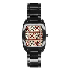 Abstract A Colorful Modern Illustration Pattern Stainless Steel Barrel Watch by Simbadda