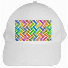 Abstract Pattern Colorful Wallpaper Background White Cap
