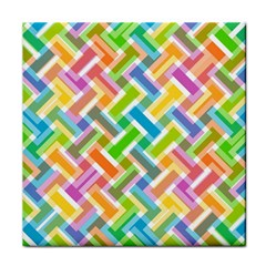Abstract Pattern Colorful Wallpaper Background Tile Coasters