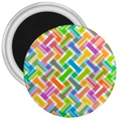 Abstract Pattern Colorful Wallpaper Background 3  Magnets