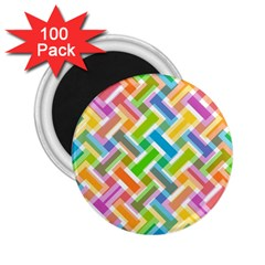 Abstract Pattern Colorful Wallpaper Background 2.25  Magnets (100 pack)