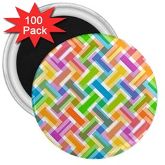Abstract Pattern Colorful Wallpaper Background 3  Magnets (100 pack)