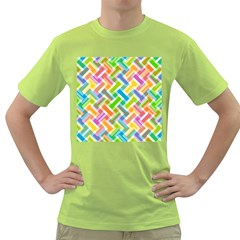 Abstract Pattern Colorful Wallpaper Background Green T-Shirt