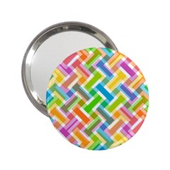 Abstract Pattern Colorful Wallpaper Background 2.25  Handbag Mirrors