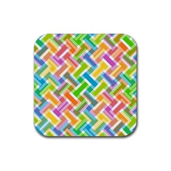 Abstract Pattern Colorful Wallpaper Background Rubber Square Coaster (4 pack)