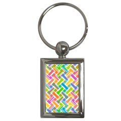 Abstract Pattern Colorful Wallpaper Background Key Chains (Rectangle)