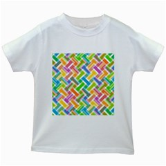Abstract Pattern Colorful Wallpaper Background Kids White T-Shirts