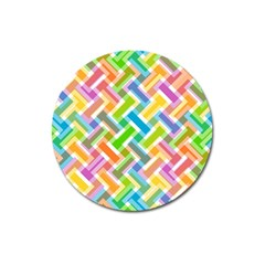 Abstract Pattern Colorful Wallpaper Background Magnet 3  (Round)