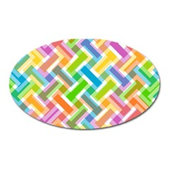 Abstract Pattern Colorful Wallpaper Background Oval Magnet