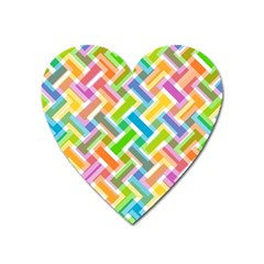 Abstract Pattern Colorful Wallpaper Background Heart Magnet