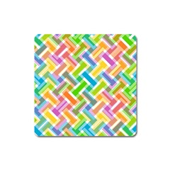 Abstract Pattern Colorful Wallpaper Background Square Magnet