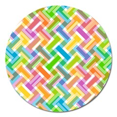 Abstract Pattern Colorful Wallpaper Background Magnet 5  (Round)