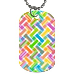 Abstract Pattern Colorful Wallpaper Background Dog Tag (One Side)