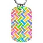 Abstract Pattern Colorful Wallpaper Background Dog Tag (Two Sides) Back