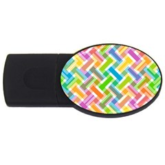 Abstract Pattern Colorful Wallpaper Background USB Flash Drive Oval (2 GB)