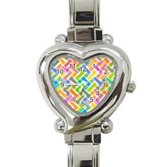 Abstract Pattern Colorful Wallpaper Background Heart Italian Charm Watch