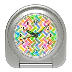 Abstract Pattern Colorful Wallpaper Background Travel Alarm Clocks