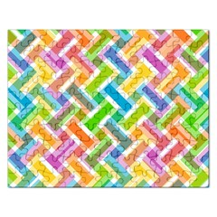 Abstract Pattern Colorful Wallpaper Background Rectangular Jigsaw Puzzl