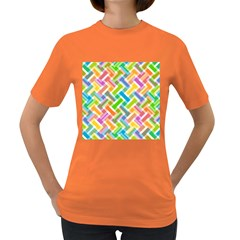Abstract Pattern Colorful Wallpaper Background Women s Dark T-Shirt