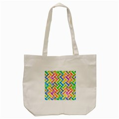 Abstract Pattern Colorful Wallpaper Background Tote Bag (Cream)