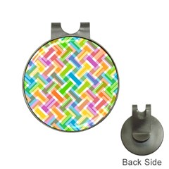 Abstract Pattern Colorful Wallpaper Background Hat Clips with Golf Markers