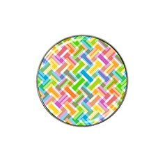 Abstract Pattern Colorful Wallpaper Background Hat Clip Ball Marker (4 pack)