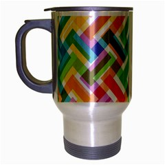 Abstract Pattern Colorful Wallpaper Background Travel Mug (Silver Gray)
