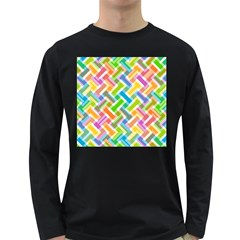 Abstract Pattern Colorful Wallpaper Background Long Sleeve Dark T-Shirts