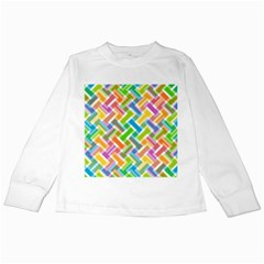 Abstract Pattern Colorful Wallpaper Background Kids Long Sleeve T-Shirts