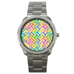 Abstract Pattern Colorful Wallpaper Background Sport Metal Watch