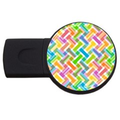 Abstract Pattern Colorful Wallpaper Background USB Flash Drive Round (4 GB)