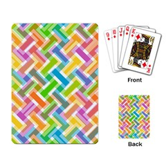 Abstract Pattern Colorful Wallpaper Background Playing Card